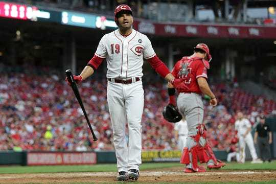 A photo of Joey Votto playing for Cincinnati Reds