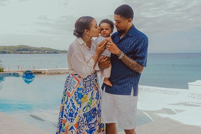 Leon Bailey Wife and Son