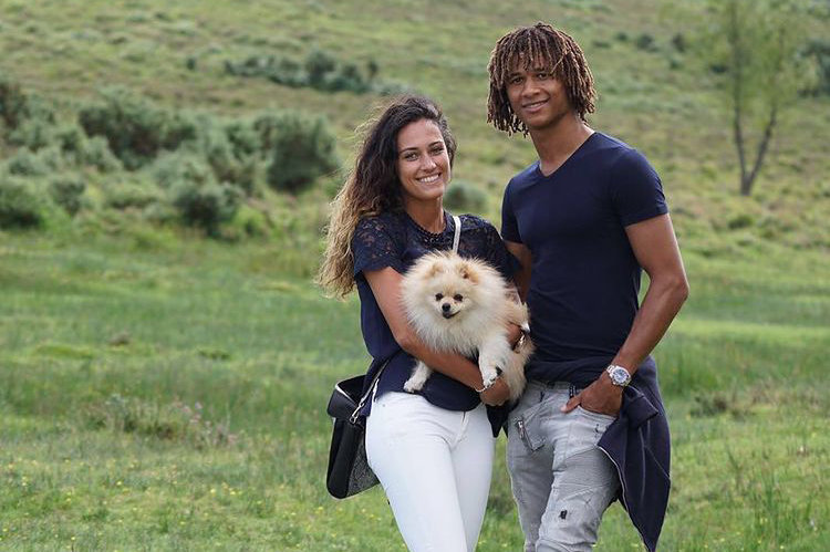 Moise Ake Son and His Girlfriend